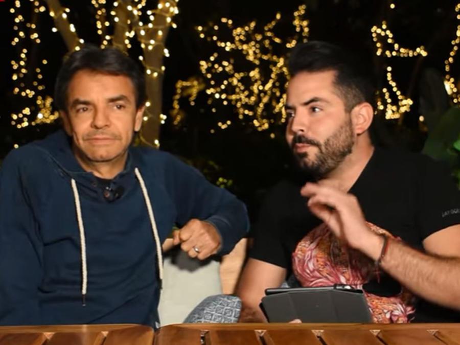 Eugenio Derbez  con su hijo José Eduardo Derbez