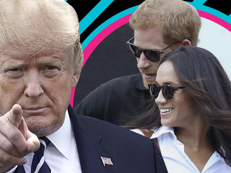 Donald Trump recibimiento a duques de Sussex