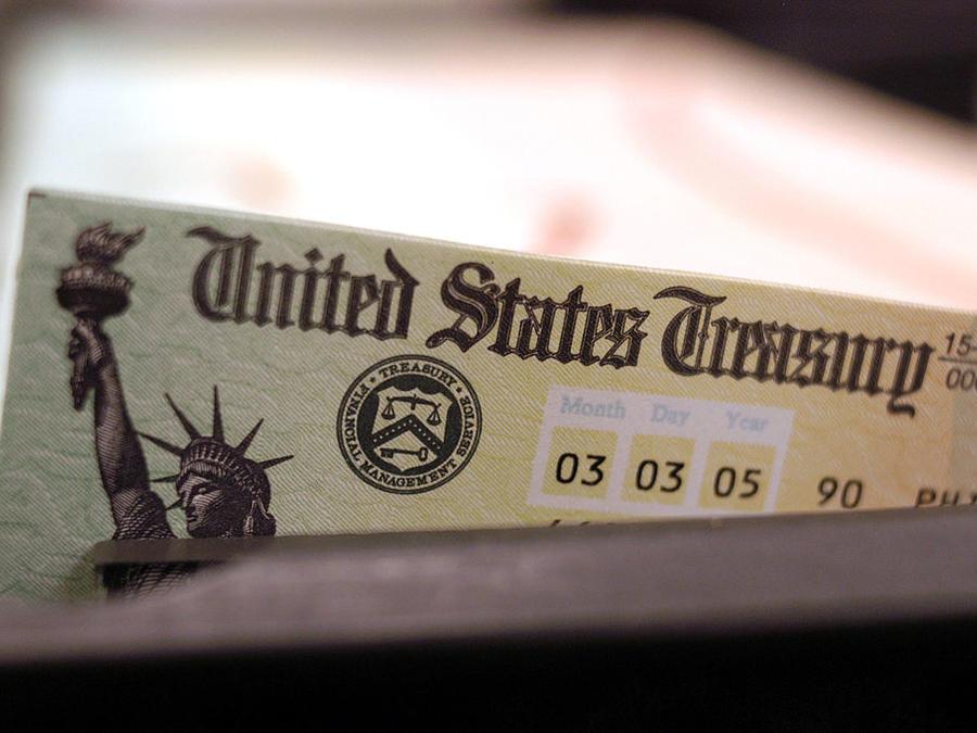 Cheque del Departamento del Tesoro de EE.UU.