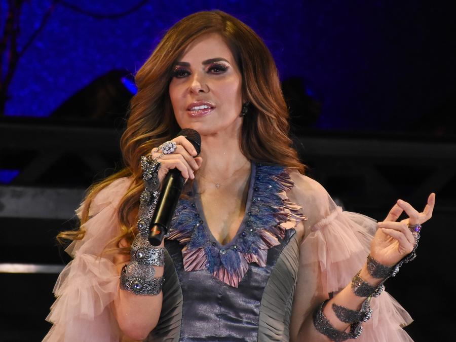 Gloria Trevi singing live in concert