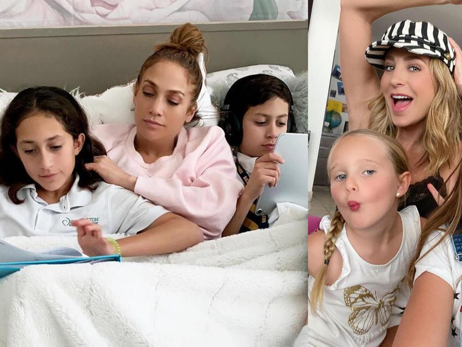 Jennifer Lopez, Geraldine Bazán y sus hijos
