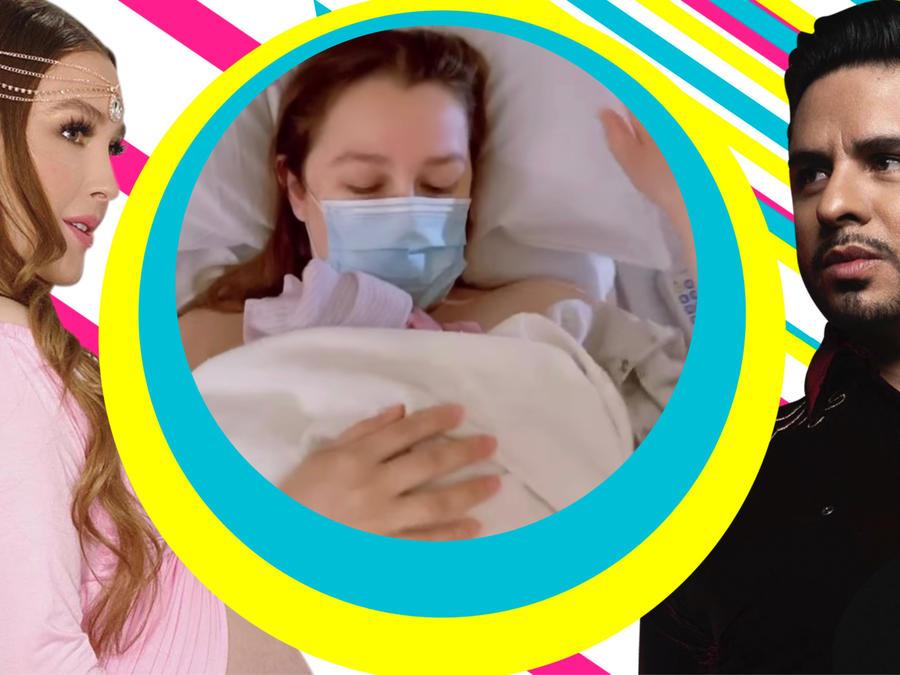 Larry Hernández esposa Kenia Ontiveros ya nacio bebé