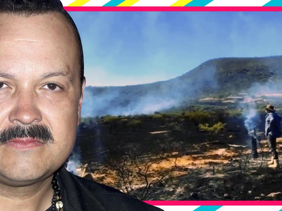 Pepe Aguilar incendio fotos videos