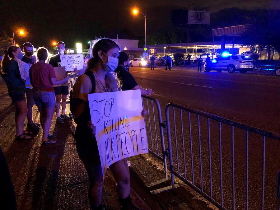 Manifestantes en Memphis, Tennessee.