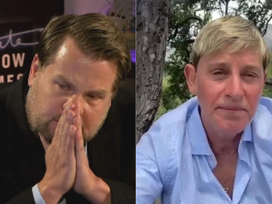 James Corden, Ellen DeGeneres