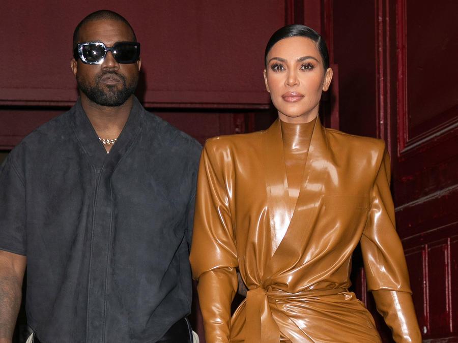 Kim Kardashian y Kanye West en Fashion Week Paris
