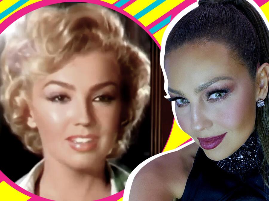 Thalía estilo Marilyn Monroe