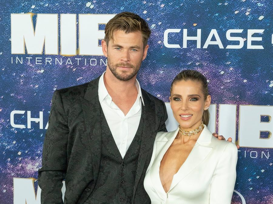 Chris Hemsworth y Elsa Pataky en la premier de Men in Black