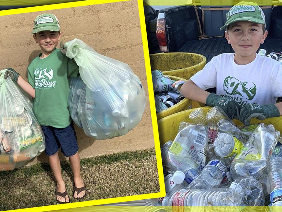 Niño empresa reciclaje