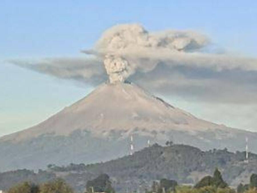 Catrina en Popocatépetl