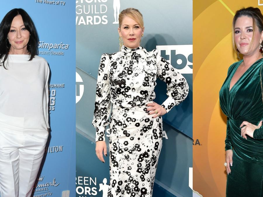 Shannen Doherty, Christina Applegate y Alicia Machado