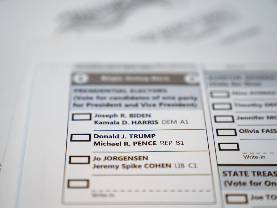 Boleta para las elecciones generales de 2020 en Estados Unidos