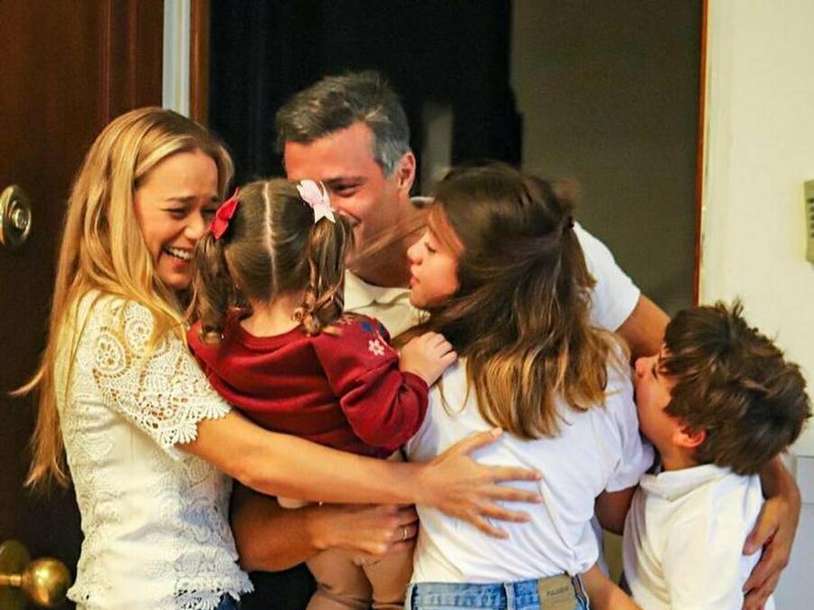 Leopoldo López y su familia.