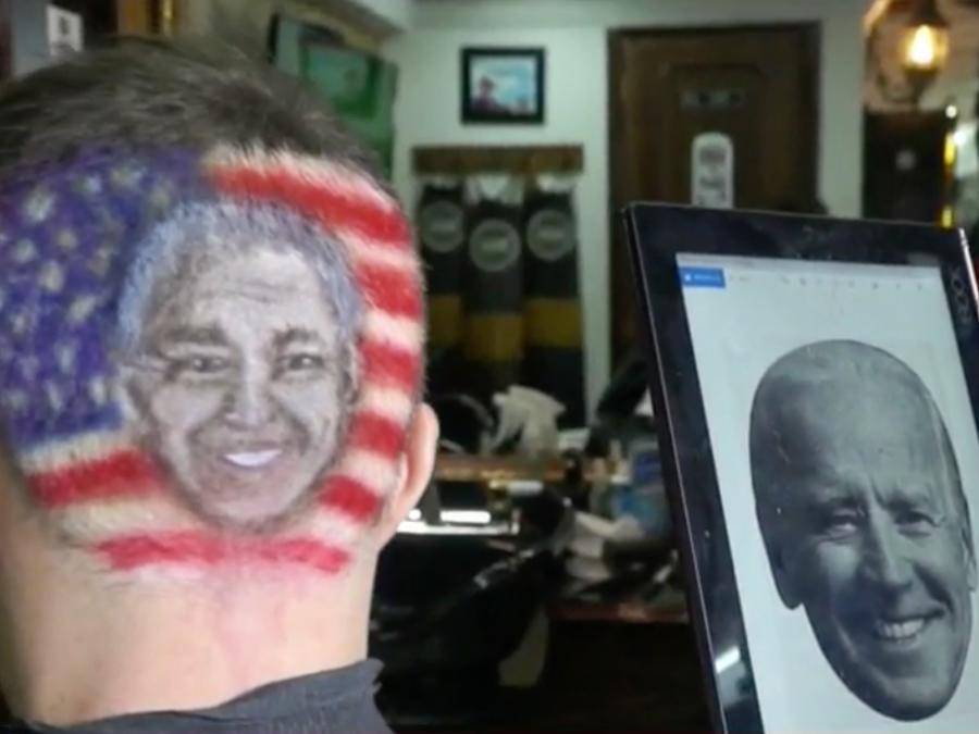 Barberos diseñan a Biden y Trump