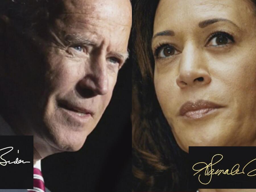 Joe Biden y Kamala Harris grafólogo