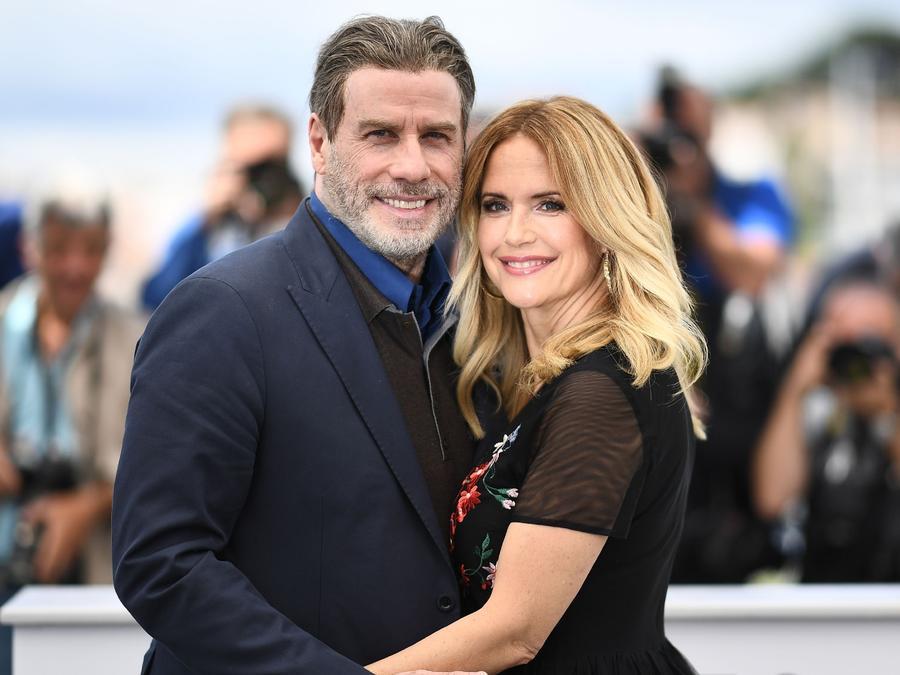 John Travolta y Kelly Preston en Cannes, Francia 2018