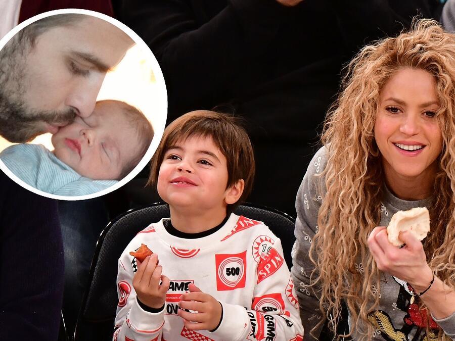 Shakira sonriendo con Milan