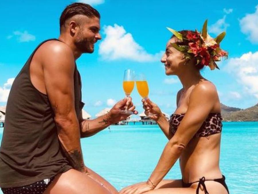 Marimar Vega y Horacio Pancheri en la Polinesia Francesa