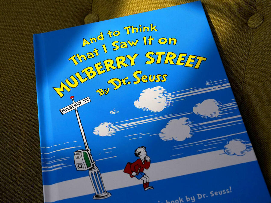 "Un ejemplar del libro ""And to Think That I Saw It on Mulberry Street"" de Dr. Seuss."