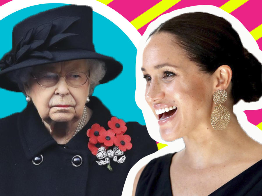 Meghan Markle vs Reina Isabel II