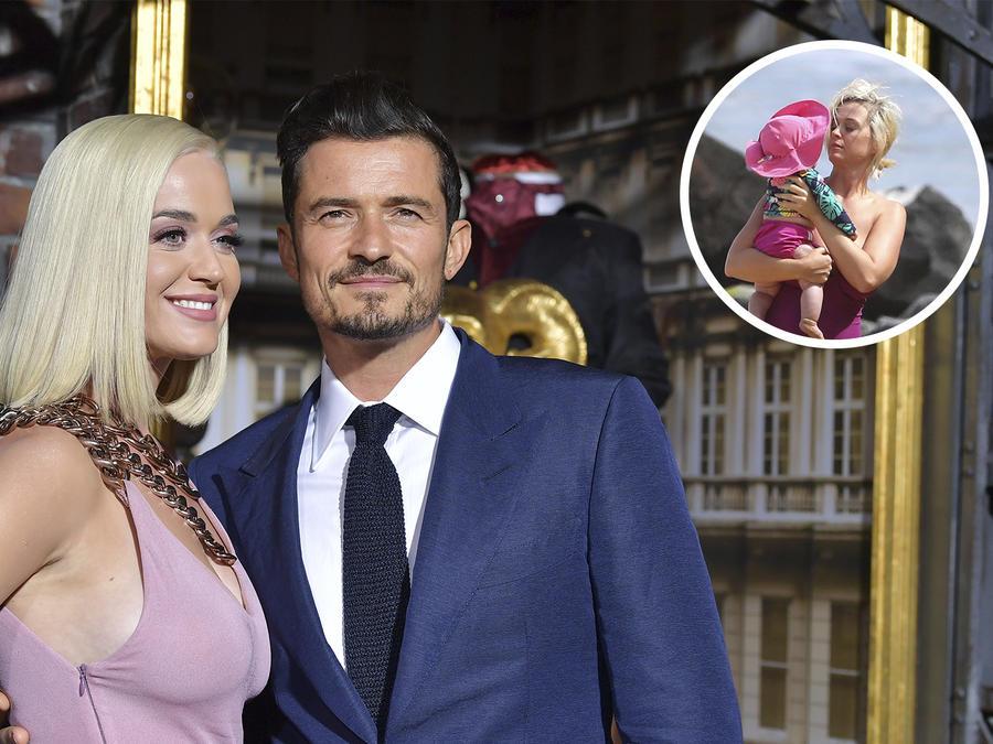Katy Perry y Orlando Bloom, vacaciones en Hawái con su hija