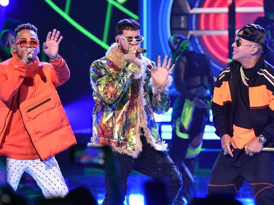 Ozuna, Anuel AA y Daddy Yankee en los Latin American Music Awards 2019