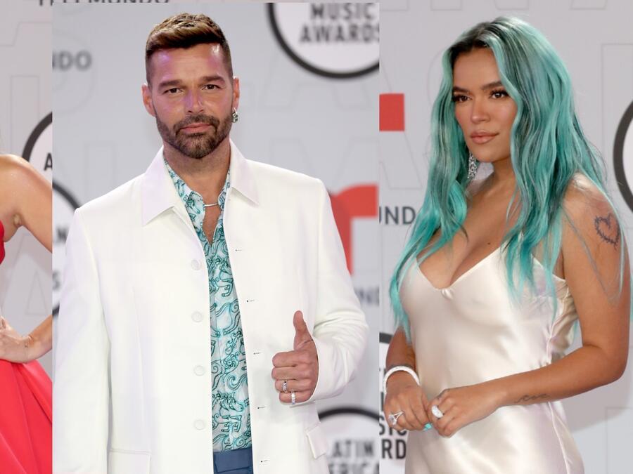 Jacky Bracamontes, Ricky Martin y Karol G en los Latin American Music Awards 2021