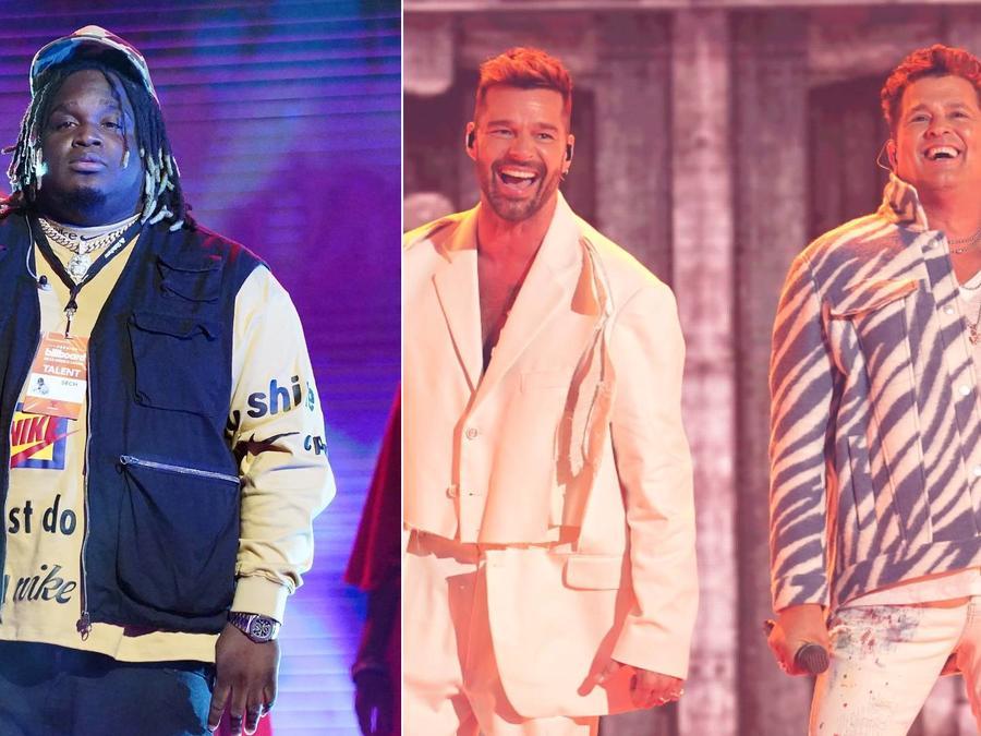 Sech en los Premios Billboard 2020; Ricky Martin y Carlos Vives en los Latin AMAs 2021