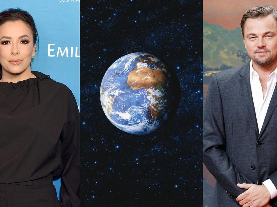 Eva Longoria y Leonardo DiCaprio