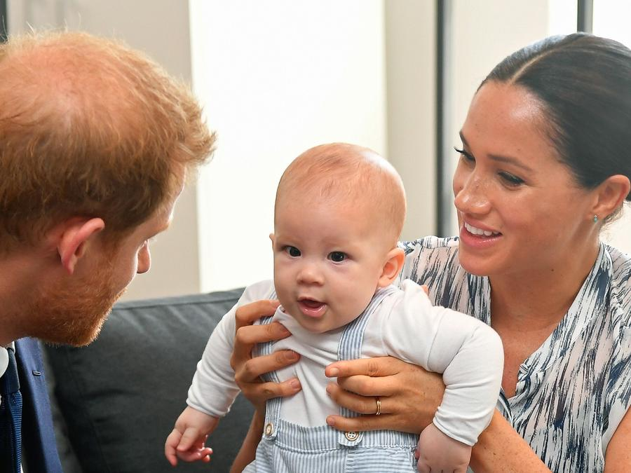 Harry, Archie y Meghan Markle