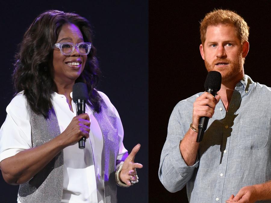 Oprah Winfrey y Harry