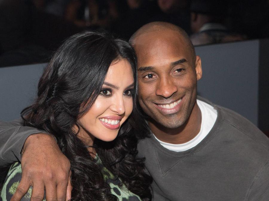 Vanessa Bryant y Kobe Bryant en el evento 'A Toast to Kobe Bryant', 2016