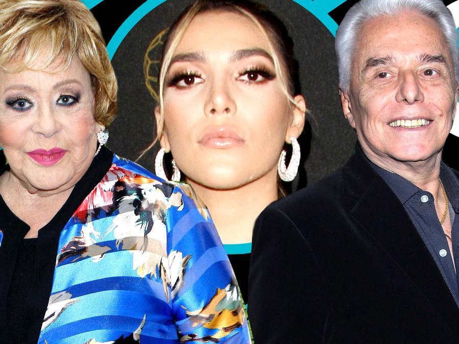 Silvia Pinal posó muy sonriente junto a Enrique Guzmán
