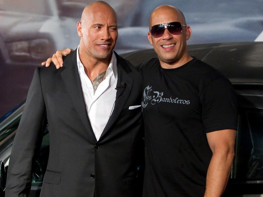 Vin Diesel y Dwayne 'The Rock' Johnson