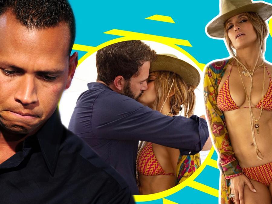 Jennifer López se besa con Ben Affleck en las narices de Alex Rodríguez