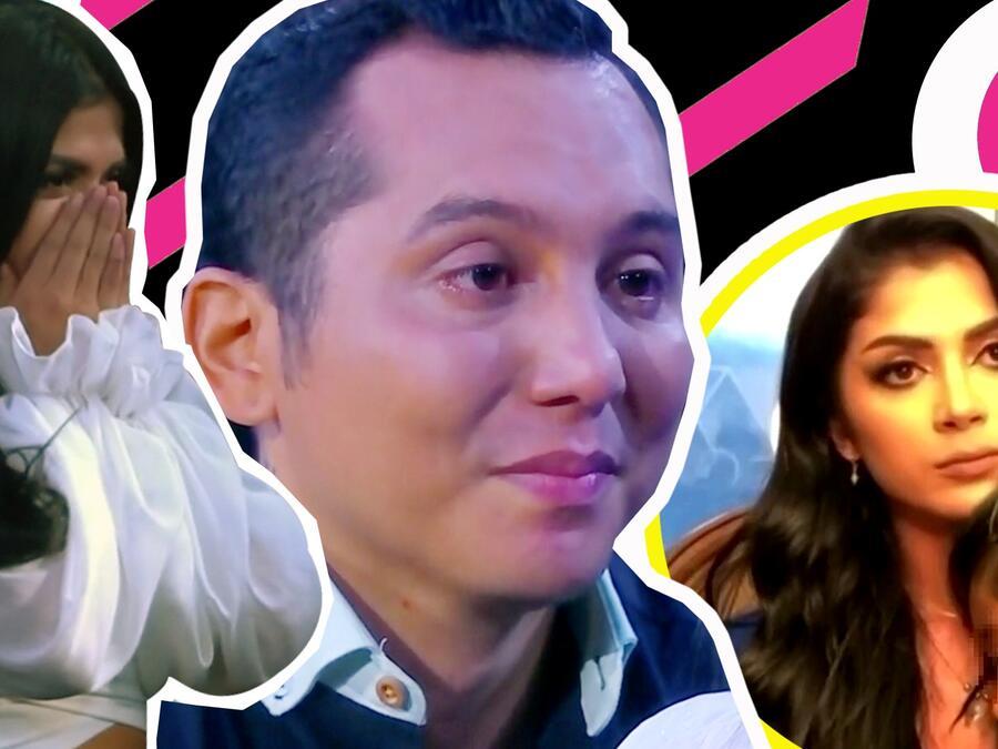 Hijo de Kimberly Flores irrumpe en plena entrevista y se aferra a ella