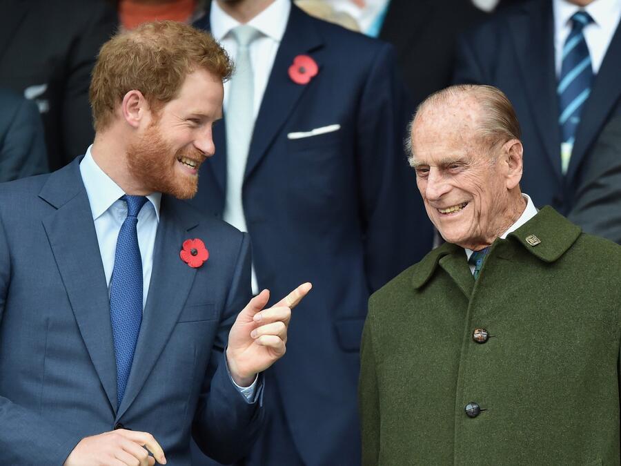 Príncipe Harry y príncipe Philip
