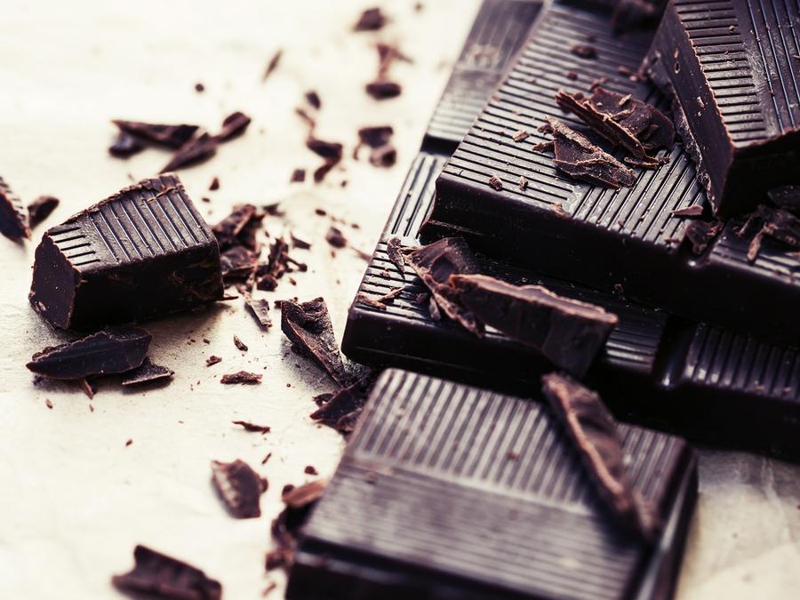 barras de chocolate oscuro