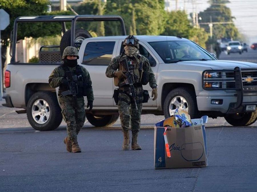 Soldados en captura del Chapo