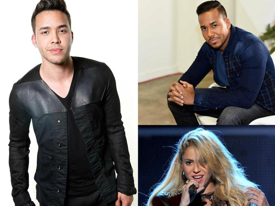 Prince Royce, Romeo Santos y Shakira