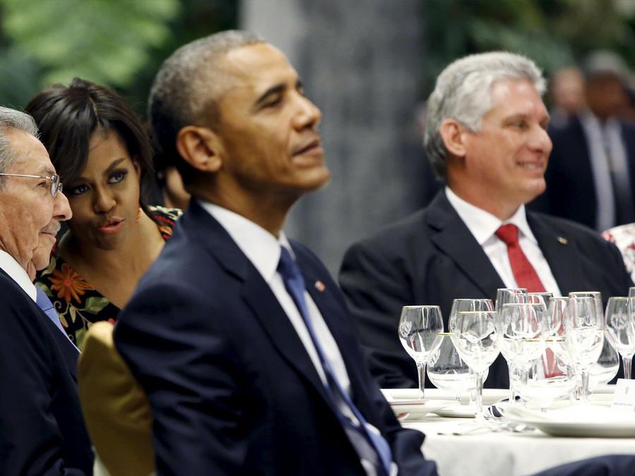 castro michelle obama hablando