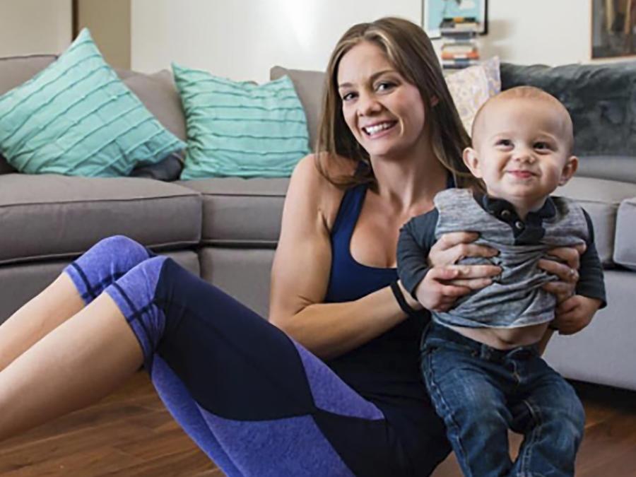 Kristy Ardo con su bebé