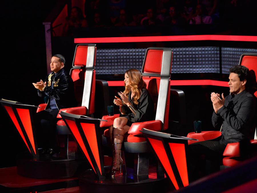 Pedro Fernández Natalia Jiménez Daddy Yankee en la tercera ronda de batallas de La Voz Kids