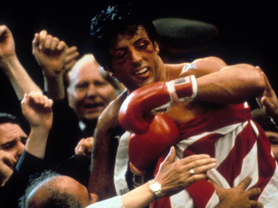 Sylvester Stallone en una escena de la película Rocky III