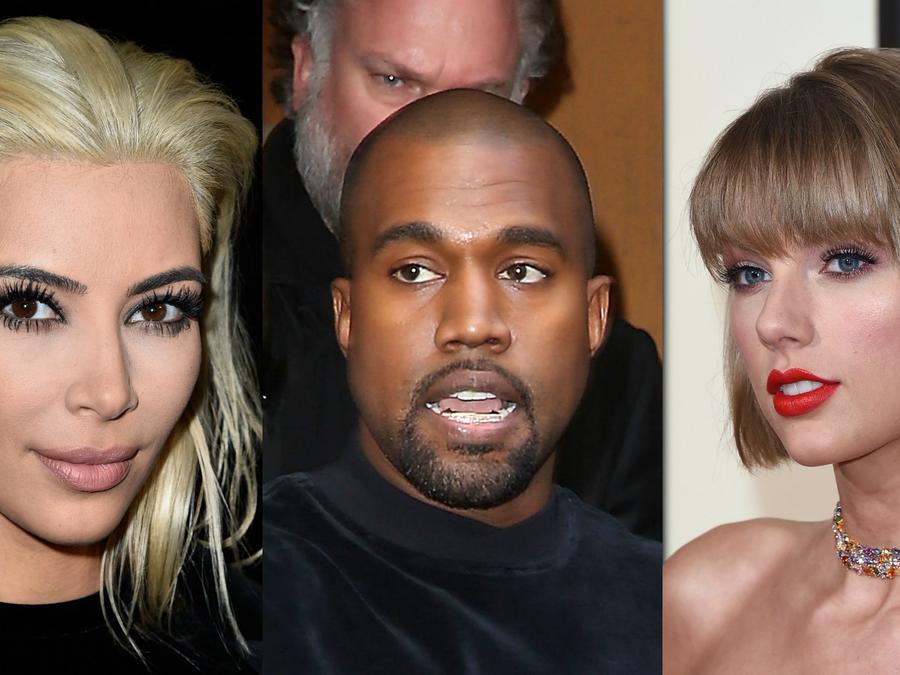 Taylor Swift, Kim Kardashian y Kanye West