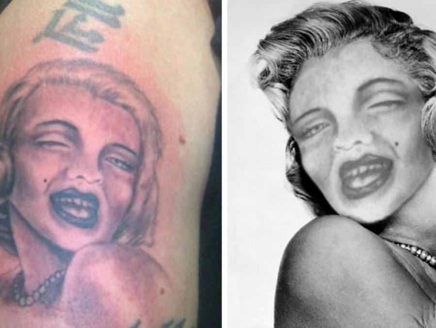 Tatuaje de la cara de Marilyn Monroe