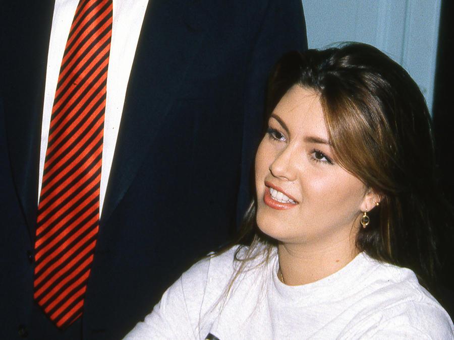 Alicia Machado y Donald Trump enero 1997