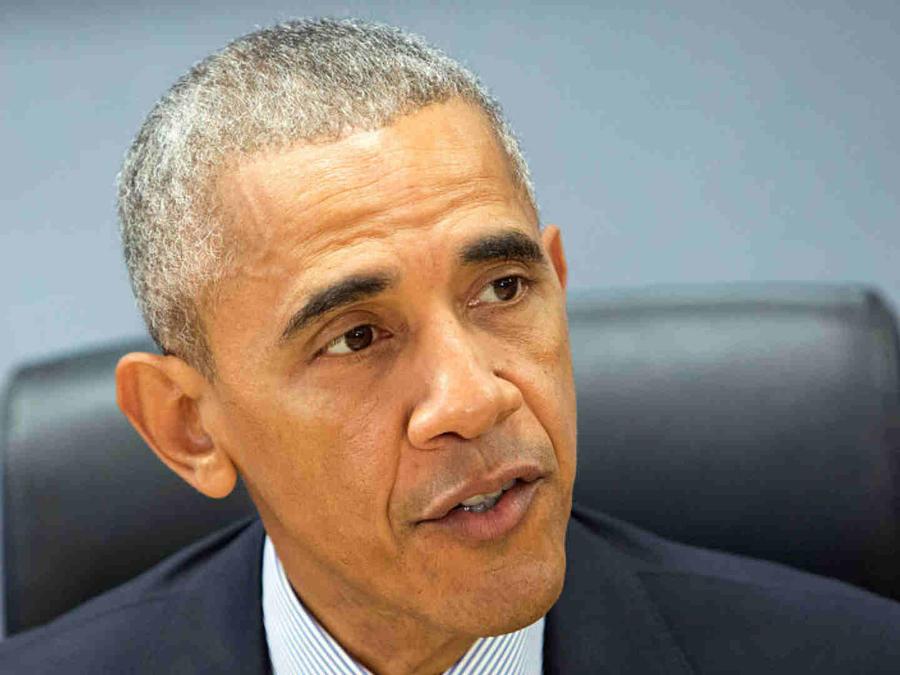 Barack Obama en conferencia de prensa por el huracán Matthew, 2016