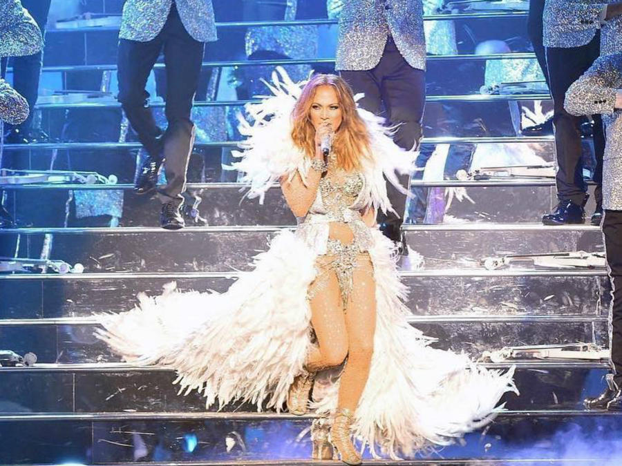 "JLo durante su show ""All I Have"" en Planet Hollywood de Las Vegas."