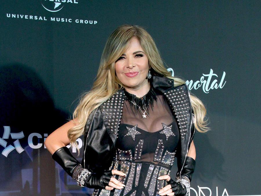 Gloria Trevi con un atuendo bien rockero en 2016.